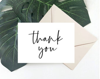 Box of Cards - Thank You Greeting Cards - Simple - Minimal