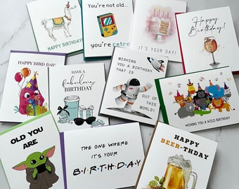 Limited Time - Box of Cards - Birthday Greeting Cards - Folded Cards Pack of 11 with Envelopes