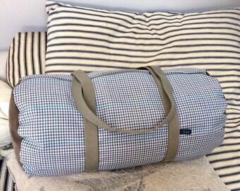 EsKale duffel bag in upcycled fabrics (travel bag, weekend bag, sports bag)
