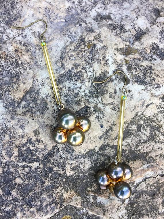 "Retooled ""Organic Chemistry!"" Dangle Earrings"