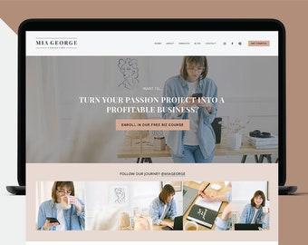 Squarespace Website Template, Squarespace Website Design 7.1, Business Web Site Design, Blog Template, Blog Theme, Responsive, Web Design