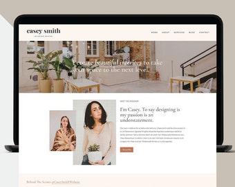Squarespace Website Template 7.1, Custom Website Design, Boho Business Web Site Design, Blog Template, Modern Squarespace Theme Installation