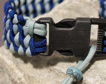 Paracord collar blue/grey blue