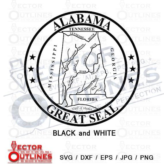 Alabama State Seal Great Seal Of Alabama Svg Dxf Etsy