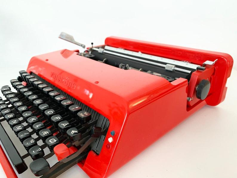 Manual Portable Perfect Working typewriter Red Typewriter Original ...