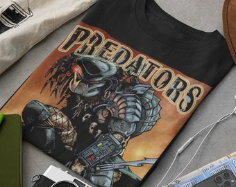 Predator t-shirt vintage, 90's, clothing adult unisex.