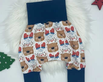 Pump Pants Baby · Christmas · Christmas time · Advent · blue red white · Harem pants children's trousers