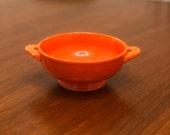 Vintage Fiestaware Fiesta Ware Homer Laughlin Cream Soup Bowl in Radioactive Red Circa 1936-1943
