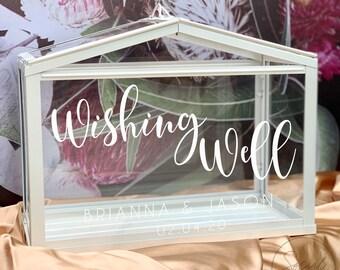 Personalised Wishing Well   Wedding Wishing Well   Wishing Well Box   Personalised Custom Wedding   Cards and well wishes  