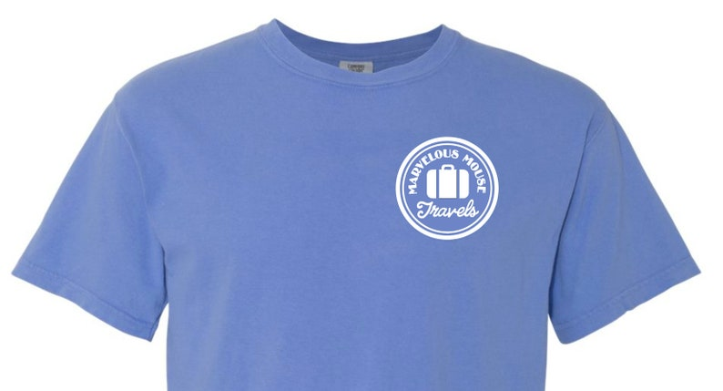 Comfort Colors Shirt With Marvelous Mouse Design Decal Included