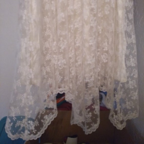 Vintage Gunne Sax White Lace Prairie Dress - image 9