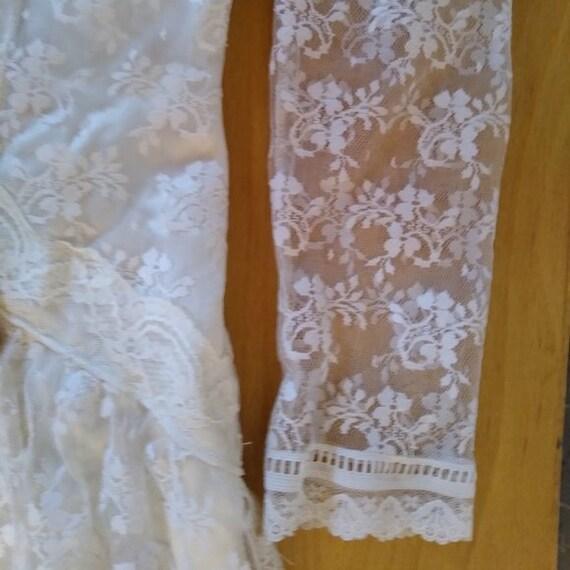 Vintage Gunne Sax White Lace Prairie Dress - image 3
