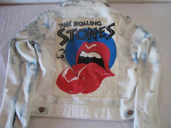Vintage Rolling Stones Acid-Wash Jean Jacket
