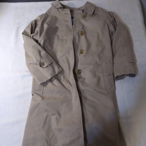 Vintage Burberry Nova Plaid Rain Trench Coat