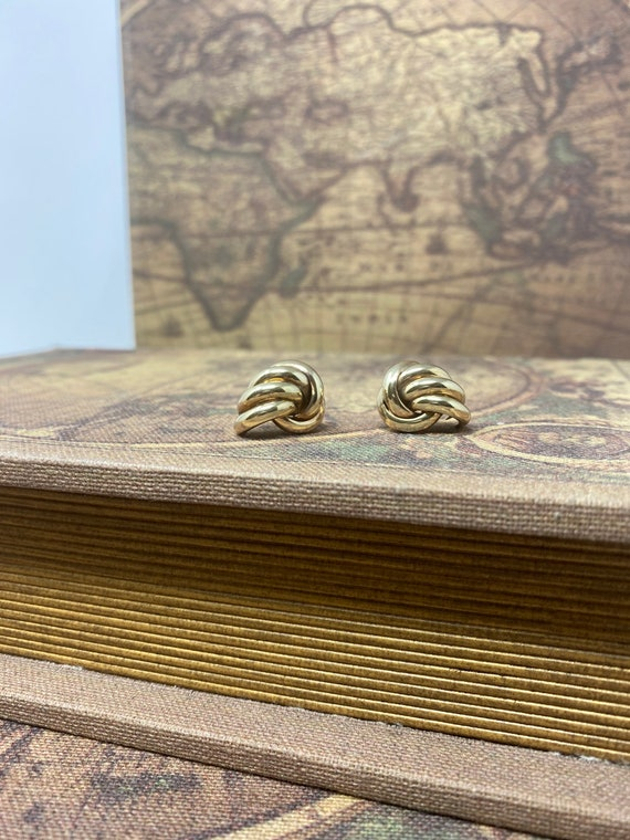 9ct Yellow Gold Statement Stud Earrings 1980's