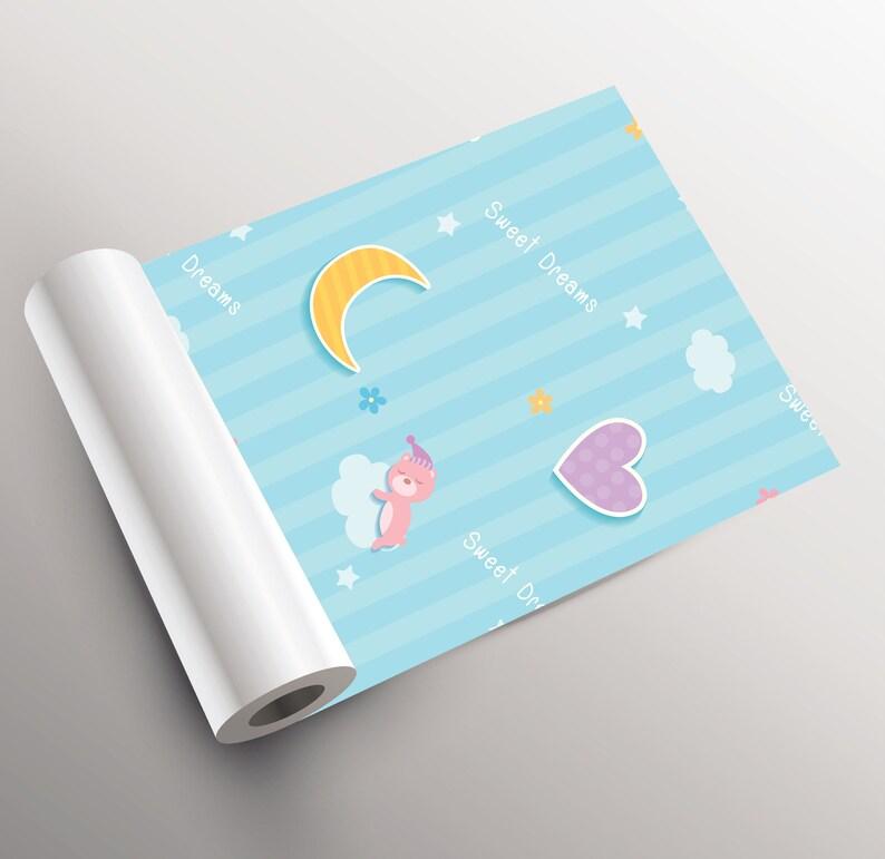 Sweet dreams wallpaper peel and stick wall mural Wallpaper for kids self adhesive