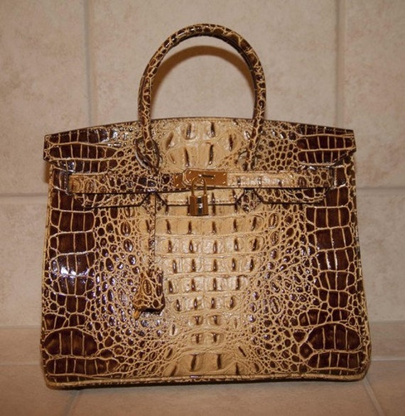 Sac de Jour Extra Large Crocodile-Embossed Leather