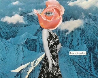 Life is Skin-Deep - Collage Art Print - Multiple Sizes