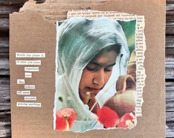 Words Can Praise It: Miniature Poetry Collage