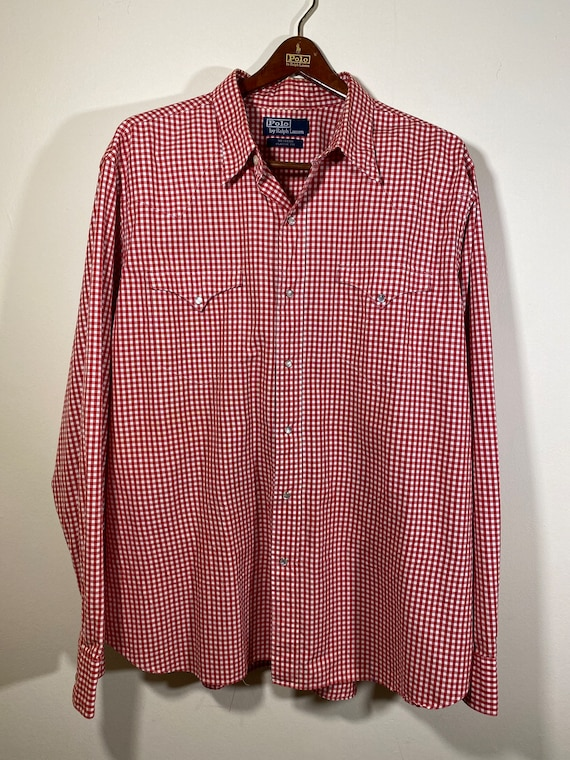 Vtg POLO by RALPH LAUREN Red White Western Classic