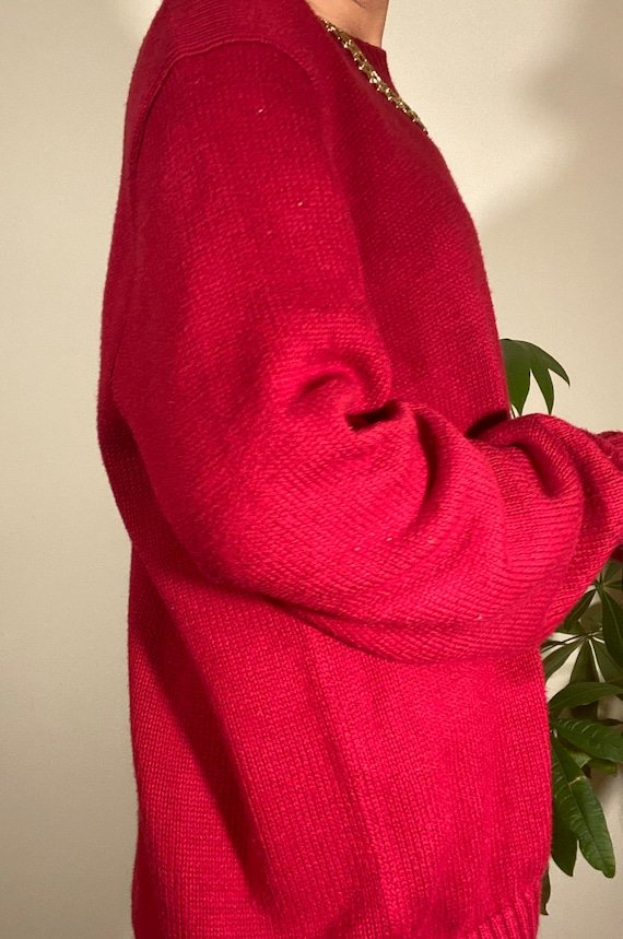 80s 90s Vintage POLO by Ralph Lauren Red Crewneck… - image 7