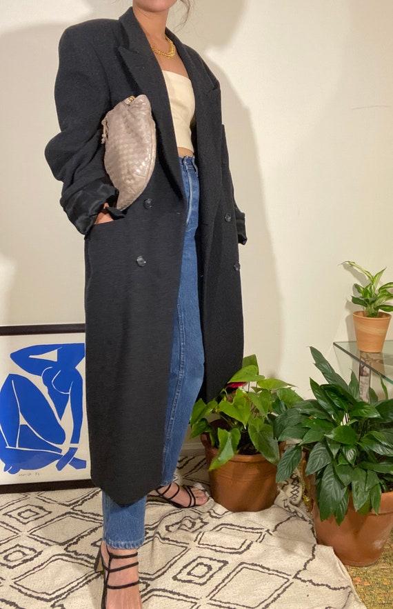 Vintage Christian Dior Monsieur Long Coat 100% Woo