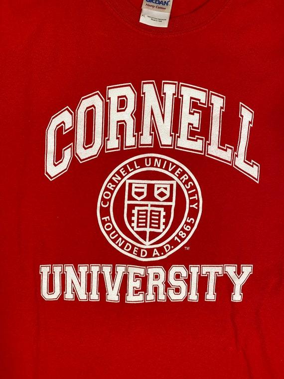 Cornell University Short Sleeves Red Crewneck T-Sh
