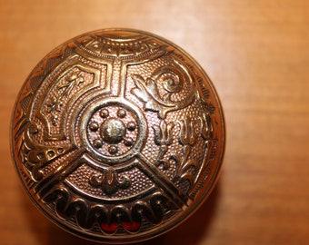 Antique Brass Corbin Ceylon Door Knob #B-11410 C.1895