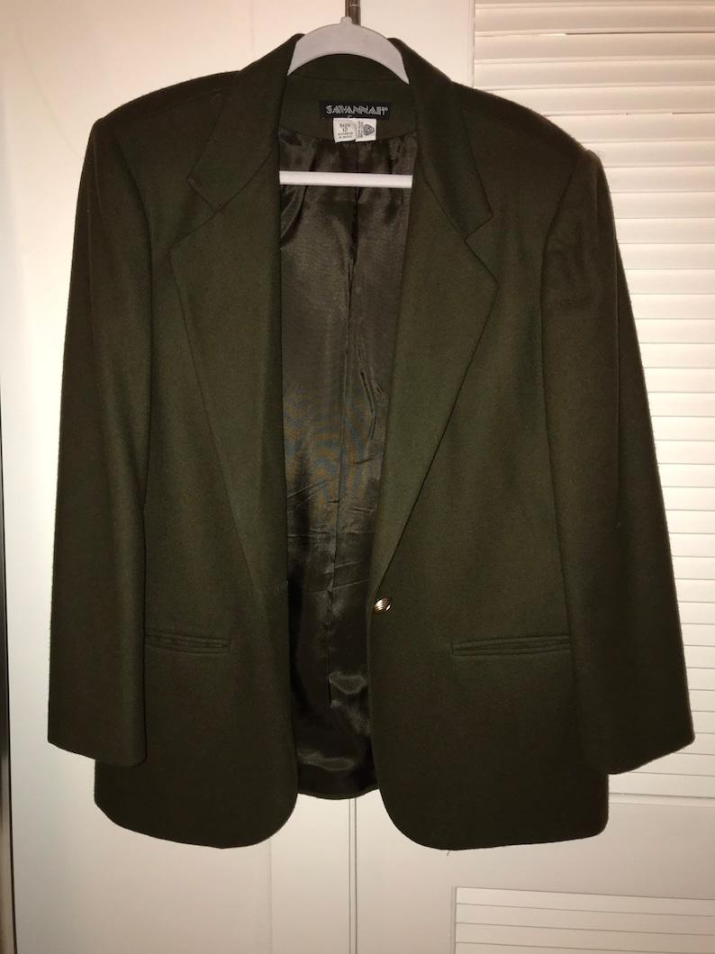 Women/'s 100/% wool vintage blazer