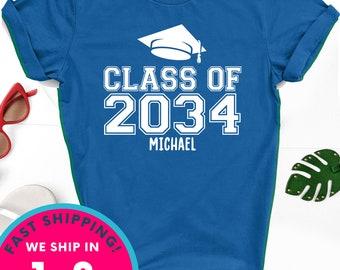Kindergarten shirt, Class of 2034 Personalized shirt, kindergarten class shirt, kindergarten boy shirt, graduation shirt, graduation kids
