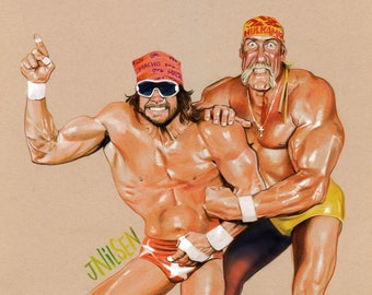 Hulk Hogan and Macho Man Randy Savage