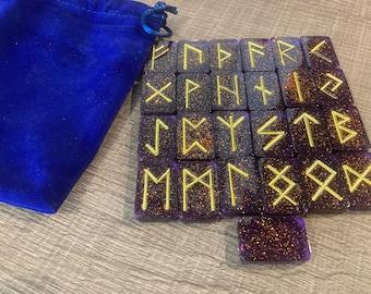 Ancient Futhark Divinatory Resin Customizable Runes