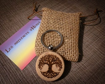 Key door customizable spiritual round Tree of Life
