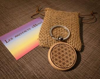 Personalisable spiritual key door round flower of life