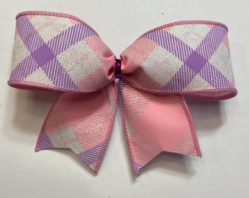 Spring White Purple 10 Pink Trim Summer Easter Lavender Christmas Tree Bows Plaid Iridescent Glitter Pale Pink