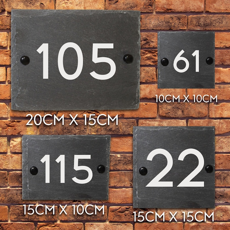 Home Decor Quality Engraved Slate name plate address number Plaque Signs