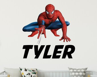 Personalized Spider Man Boys Room Decor Spiderman Room Name Wall Sign Spiderman Customized Name Sign