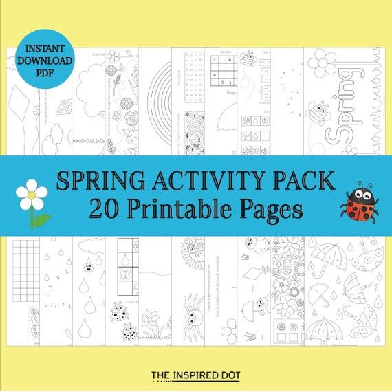 Spring Kids Activity Pack Instant Download 20 Printable