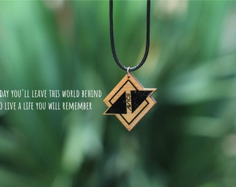 Avicii Necklace / Avicii Pendant / Tim Bergling / Avici Family / Unique Wooden Necklace / For Him For Her