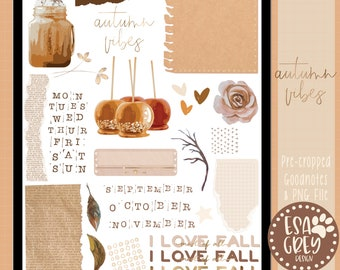 Autumn Vibes Digital Planner Stickers | Goodnotes Stickers | Digital Planning Stickers | Bullet Journal Stickers | Fall Stickers | Scrapbook