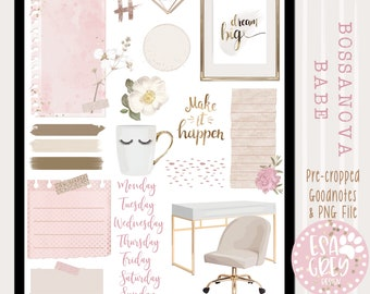Bossanova Babe Digital Planner Stickers | Goodnotes Stickers | Social Media Planning Stickers | Bullet Journal Stickers | Work Life Stickers