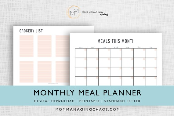 Monthly Meal Planner Template from i.etsystatic.com