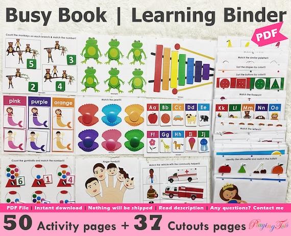 Toddler Busy Book Printable Pack Toddler Learning Folder