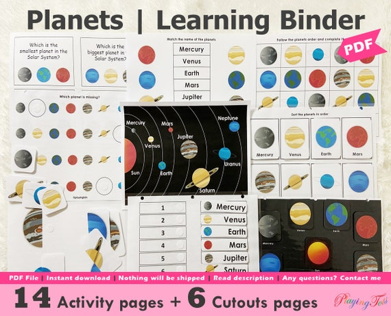 Solar System Planets Printable Pack Toddler Busy Book Pages