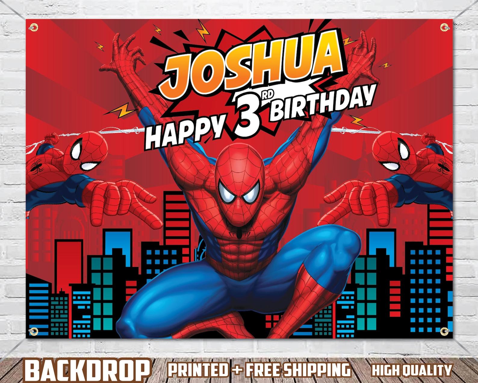 Spiderman Backdrops 4×4 Ft
