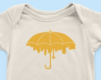 Seattle Umbrella Baby Bodysuit
