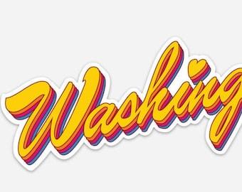 Washington State Love Bumper Sticker
