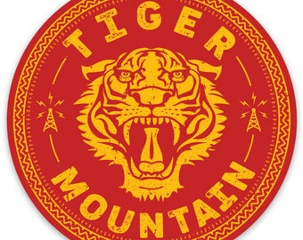 Tiger Mountain Round Sticker