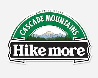 Cascade Mountains Hike More Sticker