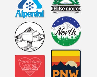 PNW Combo pack of stickers